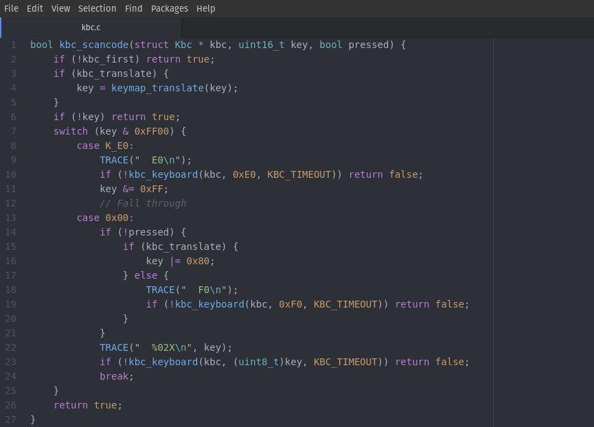 EC code snippet