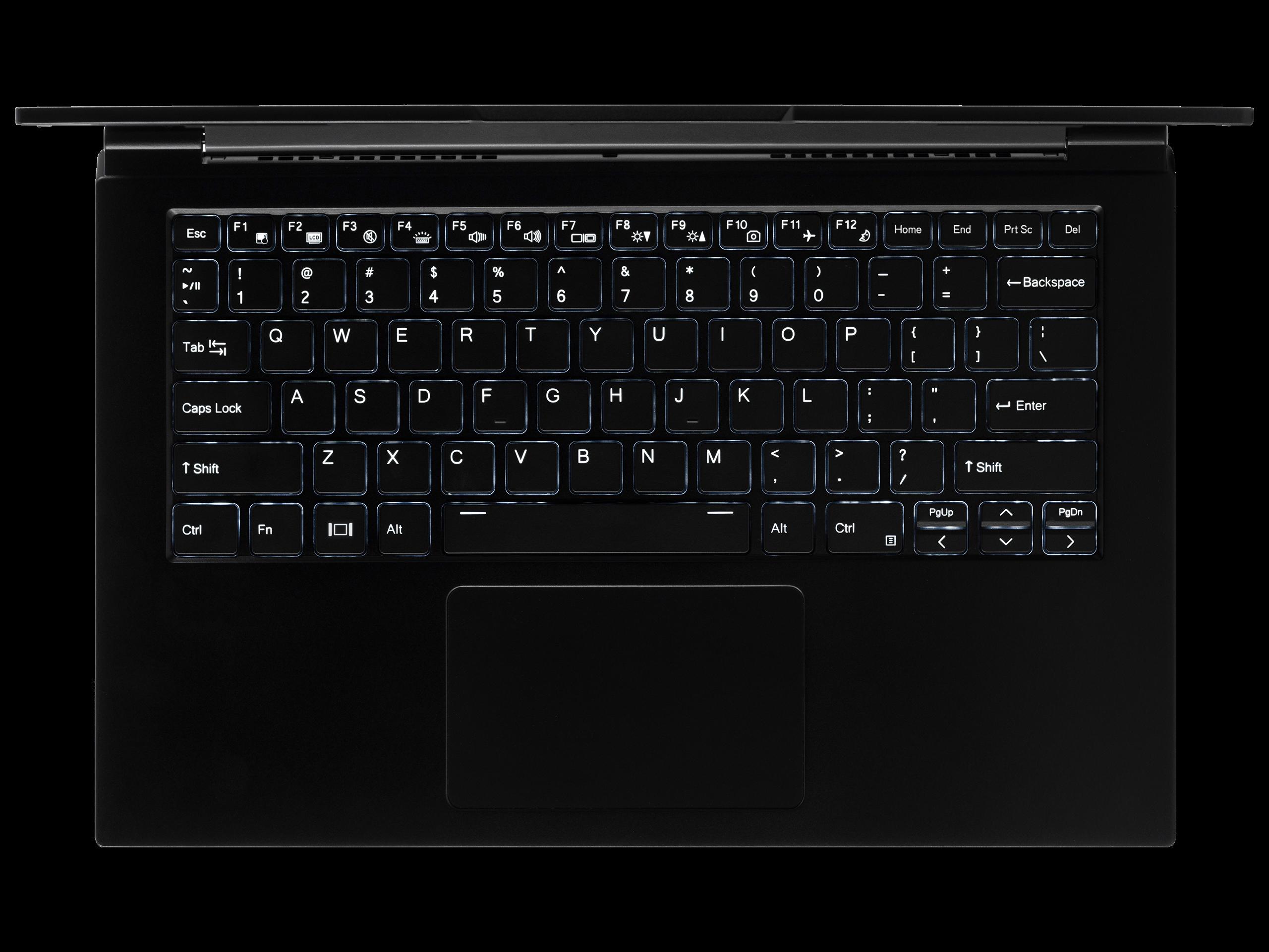 Keyboard view for Lemur Pro
